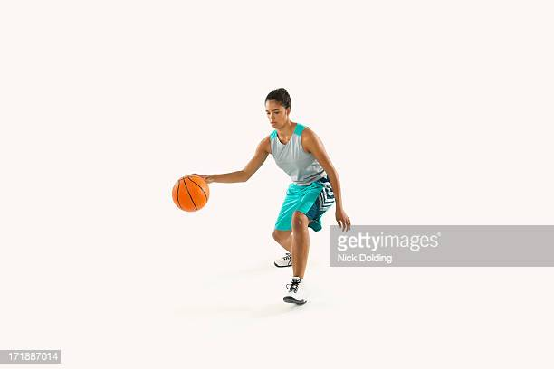 Basketball Player Dribbling 09