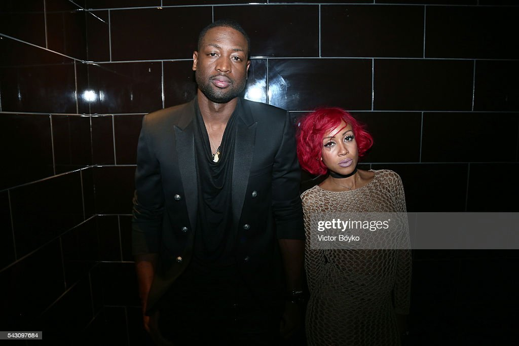 Basket-ball player <a gi-track='captionPersonalityLinkClicked' href=/galleries/search?phrase=Dwyane+Wade&family=editorial&specificpeople=201481 ng-click='$event.stopPropagation()'>Dwyane Wade</a> and NBA Stylist Calyann Barnett attend the Dior Homme Menswear Spring/Summer 2017 show as part of Paris Fashion Week on June 25, 2016 in Paris, France.