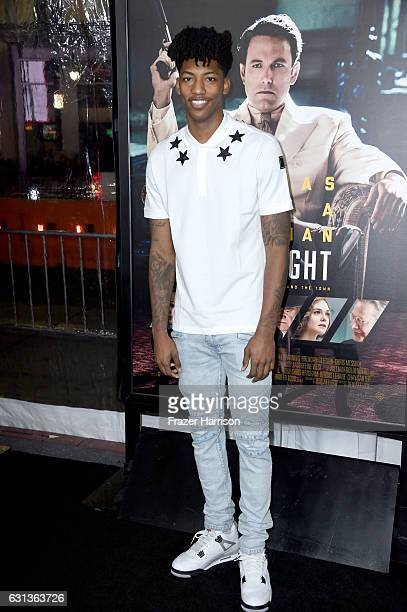 Basketball player Elfrid Payton attends the premiere of Warner Bros Pictures' 'Live By Night' at TCL Chinese Theatre on January 9 2017 in Hollywood...
