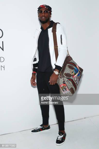 Basketball player for the Denver NuggetsÊKenneth Faried attends the EFM Engineered For Motion Spring/Summer 2018 Runway Show at Skylight Clarkson...