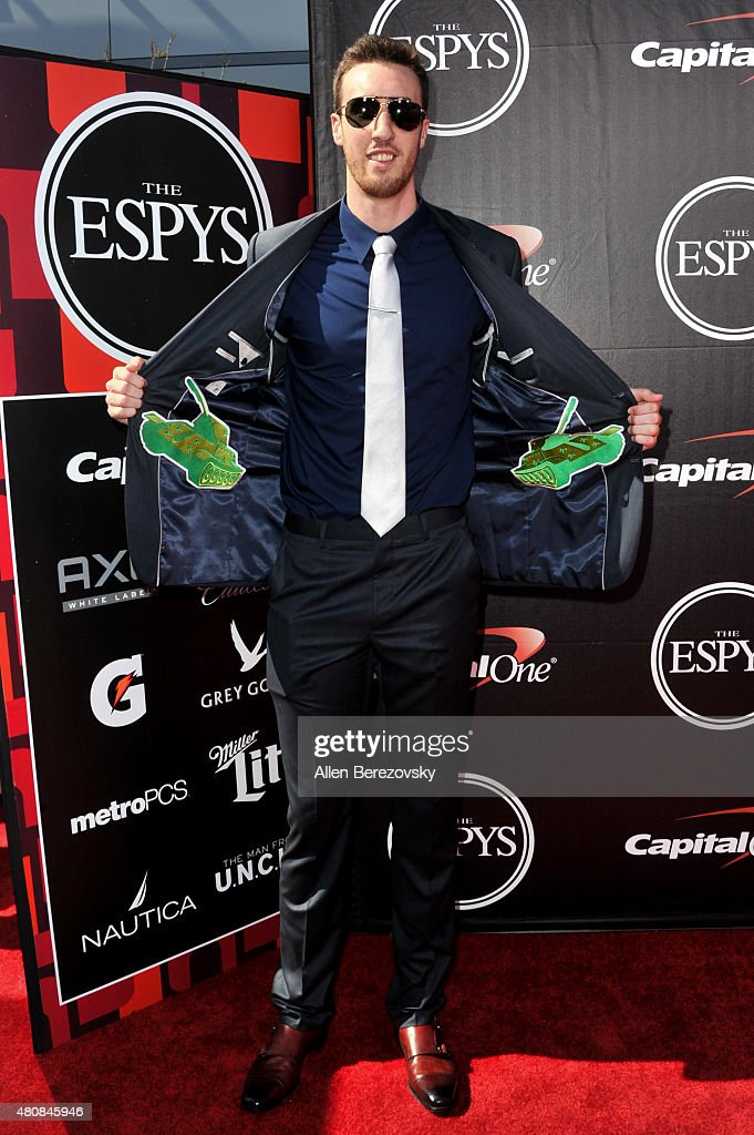 Basketball player Frank 'The Tank' Kaminsky arrives at the 2015 ESPYS at Microsoft Theater on July 15, 2015 in Los Angeles, California.