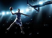Basketball player in jump shot