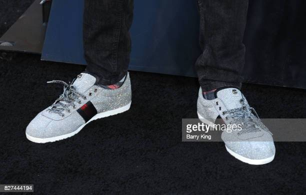 NBA basketball player James Ennis shoe detail attends the premiere of New Line Cinema's' 'Annabelle Creation' at TCL Chinese Theatre on August 7 2017...