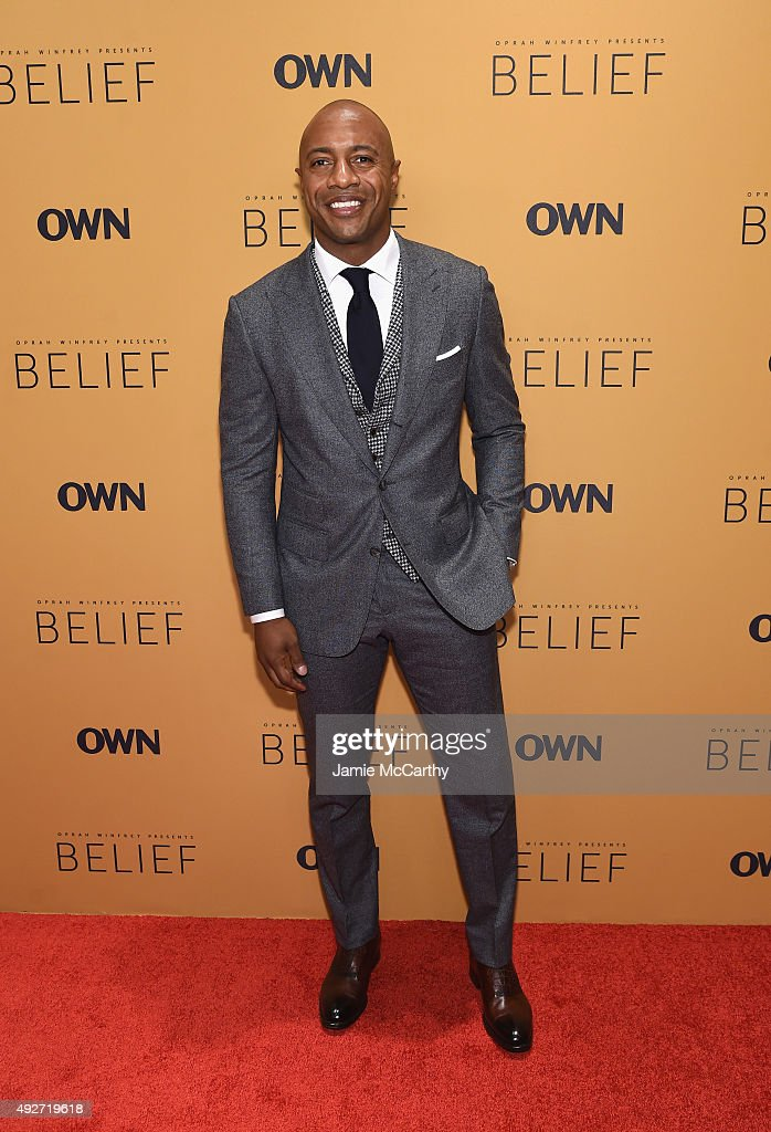Basketball player Jay Williams attends the 'Belief' New York premiere at TheTimesCenter on October 14, 2015 in New York City.