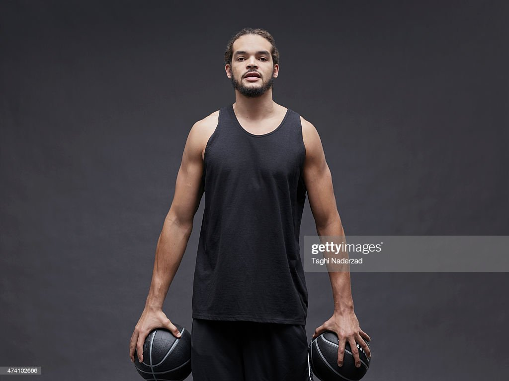Basketball player <a gi-track='captionPersonalityLinkClicked' href=/galleries/search?phrase=Joakim+Noah&family=editorial&specificpeople=699038 ng-click='$event.stopPropagation()'>Joakim Noah</a> is photographed for Maxim Magazine on August 18, 2014 in New York City. ON