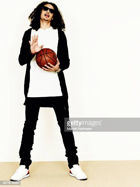Basketball player Joakim Noah is photographed for Self Assignment on April 22 2006 in Paris France