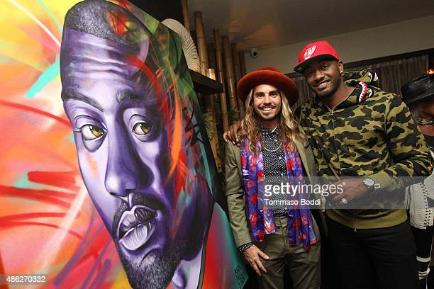 Basketball player John Wall and artist MadSteez attend the Ulysse Nardin Crown Royal and Haute Time celebrate John Wall's birthday on September 2...