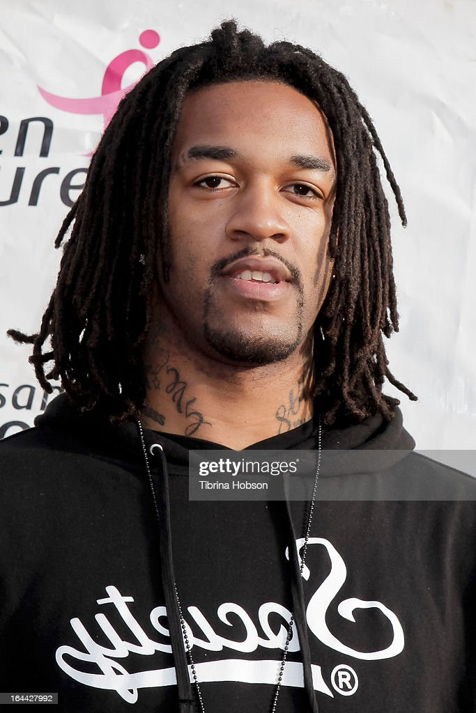 Basketball player Jordan Hill atttends the 17th annual Los Angeles County 'Race For The Cure' at Dodger Stadium on March 23 2013 in Los Angeles...
