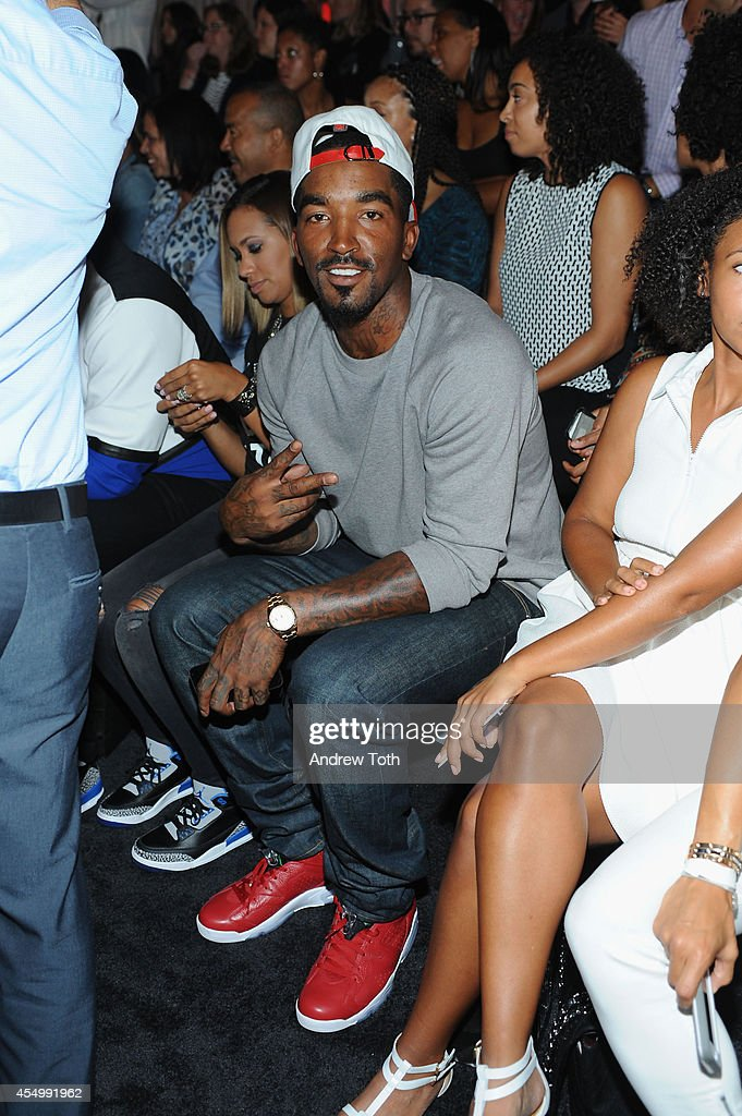 Basketball player JR Smith attends Nike/Levi Kids fashion show during MercedesBenz Fashion Week Spring 2015 at Cafe Rouge on September 8 2014 in New...