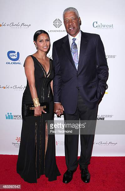 NBA basketball player Julius Erving and his wife Dorùs Madden attend the 15th Annual Harold And Carole Pump Foundation Gala at the Hyatt Regency...