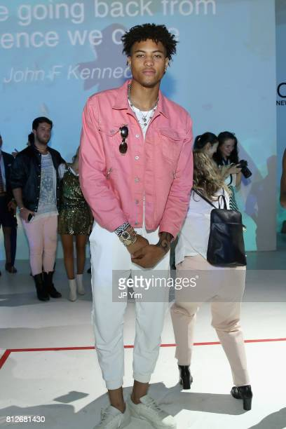 Basketball player Kelly Oubre Jr attends Nick Graham Atlantis SS18 at Skylight Clarkson SQ on July 11 2017 in New York City