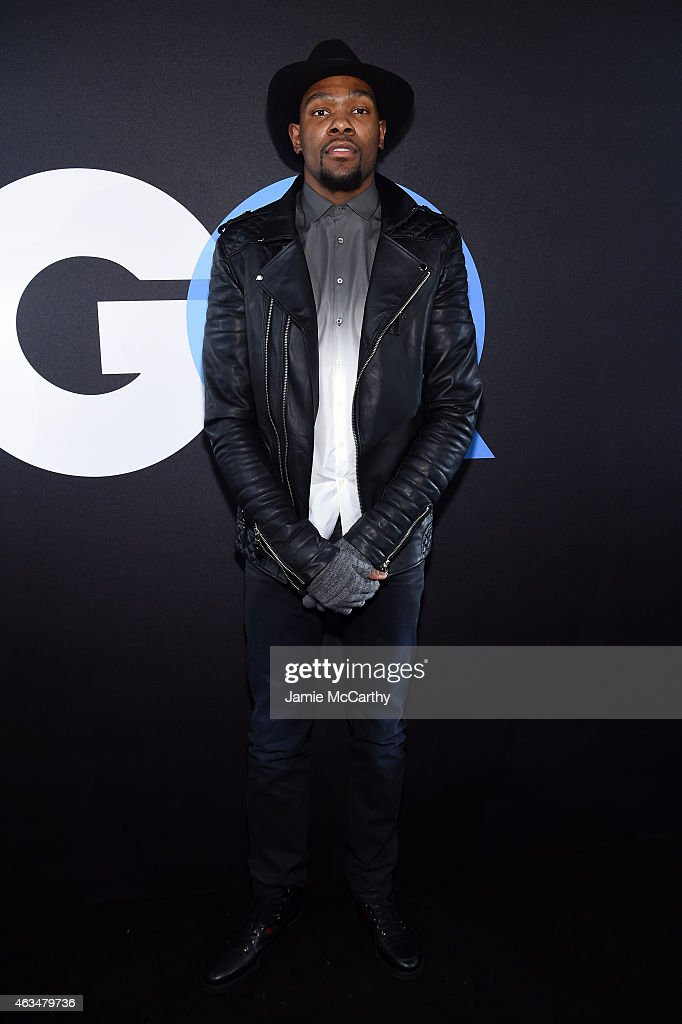 Basketball player Kevin Durant attends GQ and LeBron James Celebrate AllStar Style on February 14 2015 in New York City