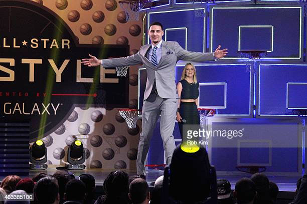 Basketball player Klay Thompson walks the runway during the NBA AllStar AllStyle presented by Samsung Galaxy the firstever NBA fashion show executive...