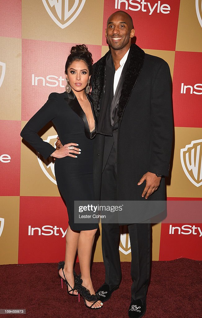 Basketball player Kobe Bryant and wife Vanessa Bryant attend the 2013 InStyle and Warner Bros 70th Annual Golden Globe Awards PostParty held at the...
