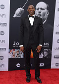 NBA basketball player Kobe Bryant arrives at the 44th AFI Life Achievement Awards Gala Tribute to John Williams at Dolby Theatre on June 9 2016 in...