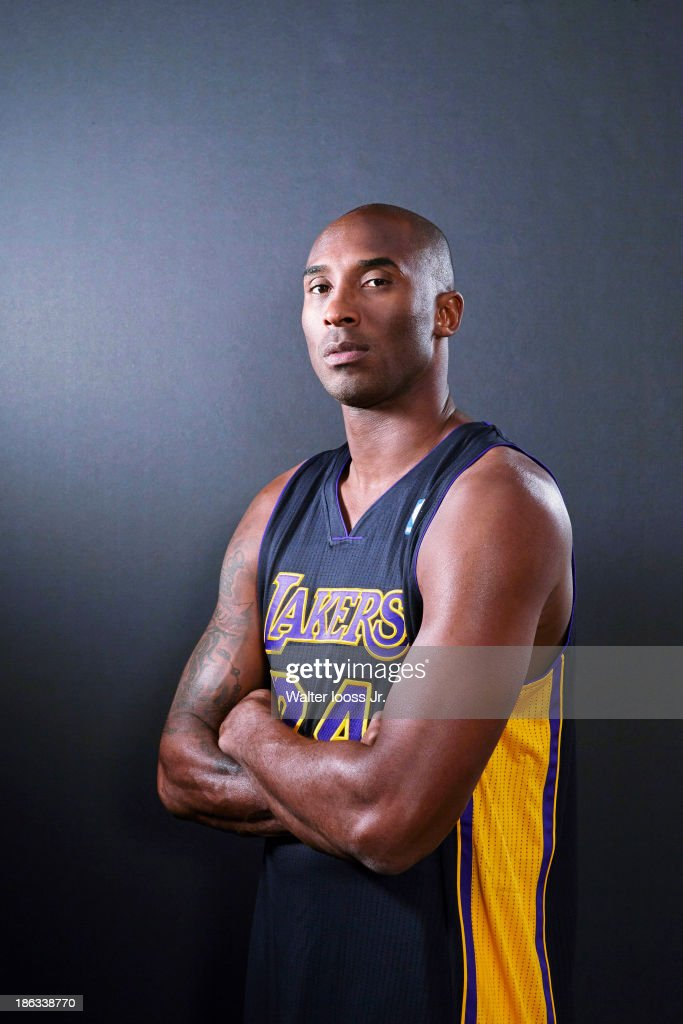 Basketball player Kobe Bryant is photographed for Sports Illustrated on October 9, 2013 at MGM Grand Hotel & Casino in Las Vegas, Nevada.