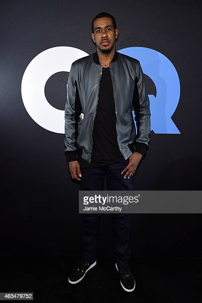Basketball player LaMarcus Aldridge attends GQ and LeBron James Celebrate AllStar Style on February 14 2015 in New York City