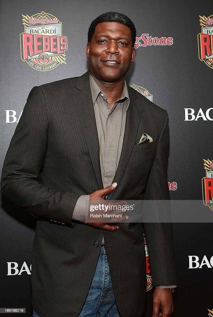 Basketball player Larry Johnson attends Inaugural Bacardi Rebels event hosted by Rolling Stone at Roseland Ballroom on May 20, 2013 in New York City.