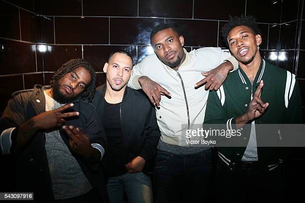 BasketBall player Nick Young and guests attend the Balmain Menswear Spring/Summer 2017 after party as part of Paris Fashion Week at Les Bains on June...
