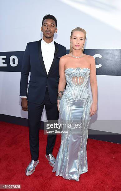 Basketball player Nick Young and rapper Iggy Azalea attend the 2014 MTV Video Music Awards at The Forum on August 24 2014 in Inglewood California