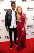 Basketball player Nick Young and rapper Iggy Azalea attend the 2014 Billboard Music Awards at the MGM Grand Garden Arena on May 18 2014 in Las Vegas...