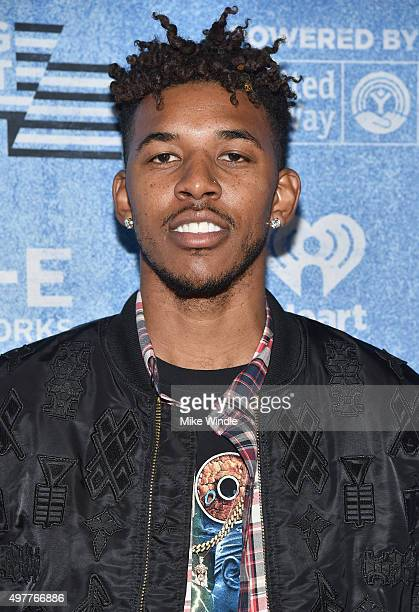 Basketball player Nick Young attends AE Networks 'Shining A Light' concert at The Shrine Auditorium on November 18 2015 in Los Angeles California