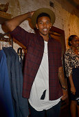 Basketball player Nick Young attends Chris Bosh and Hennessy VS Raise a Glass to Mr Nice Tie at Carson Street Clothiers on September 8 2014 in New...