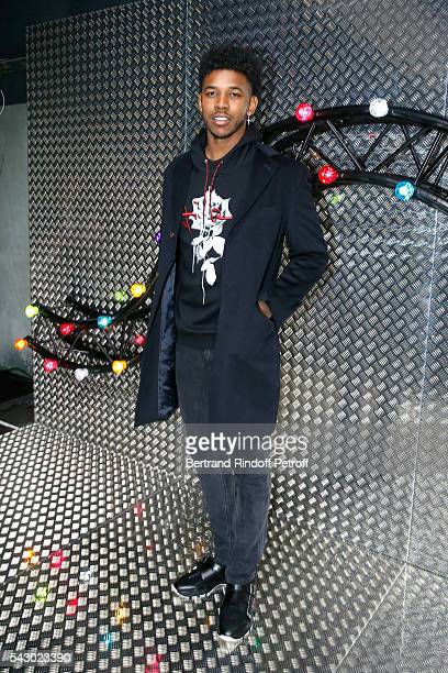 BasketBall player Nick Young attends the Dior Homme Menswear Spring/Summer 2017 show as part of Paris Fashion Week on June 25 2016 in Paris France