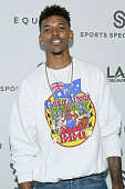 Basketball player Nick Young attends the Equinox 'Celebrity Basketball Spectacular' To Benefit Sports Spectacular on May 30 2015 in West Los Angeles...