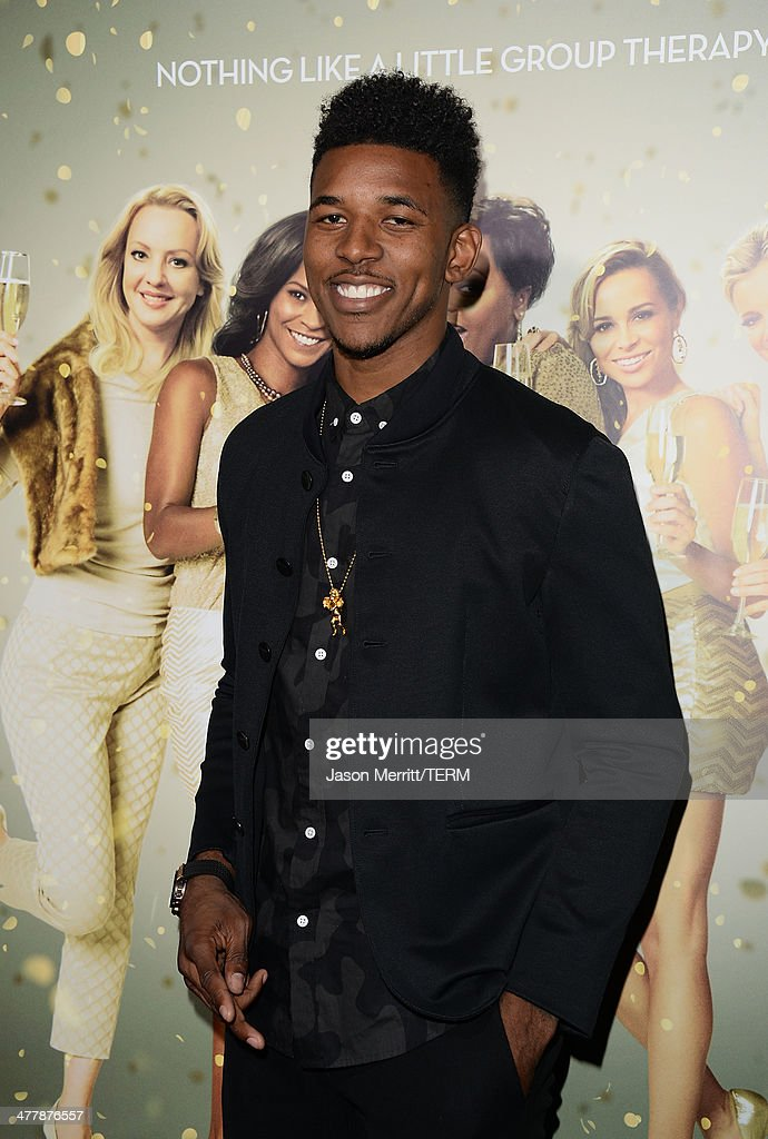 Basketball player Nick Young attends the premiere Of Tyler Perry's 'The Single Moms Club' at ArcLight Cinemas Cinerama Dome on March 10, 2014 in Hollywood, California.