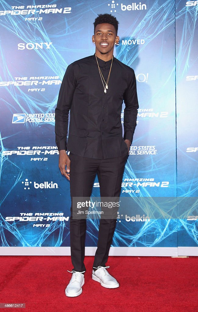Basketball player Nick Young attends the 'The Amazing Spider-Man 2' New York Premiere on April 24, 2014 in New York City.