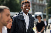 Basketball player Nick Young enters the Ermenegildo Zegna show during Milan Men's Fashion Week Spring/Summer 2016 on June 20 2015 in Milan Italy