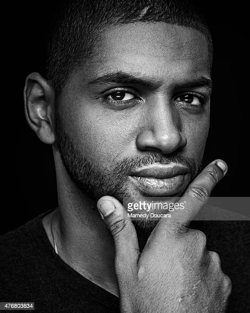Basketball player Nicolas Batum is photographed for Self Assignment on May 11 2015 in Paris France