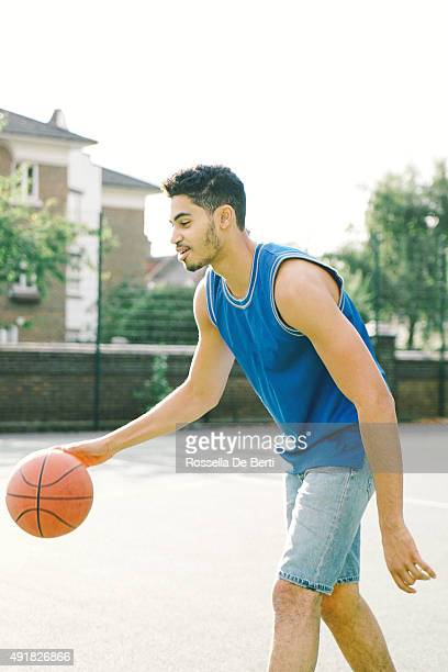 Basketball Player On The Court, Bouncing