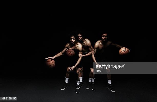 Basketball player playing basketball