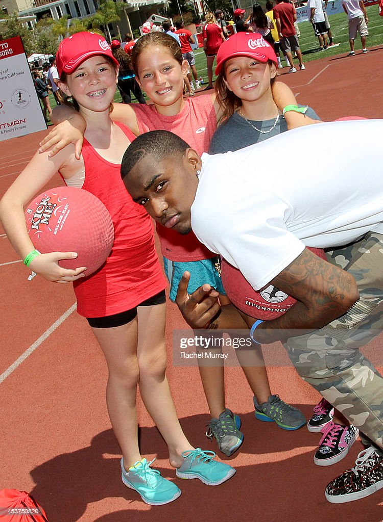 Basketball player <a gi-track='captionPersonalityLinkClicked' href=/galleries/search?phrase=Quincy+Miller+-+Basketball+Player&family=editorial&specificpeople=9866654 ng-click='$event.stopPropagation()'>Quincy Miller</a> attends Kickball For A Home - Celebrity Challenge presented by Dave Thomas Foundation For Adoption at USC on August 16, 2014 in Los Angeles, California.