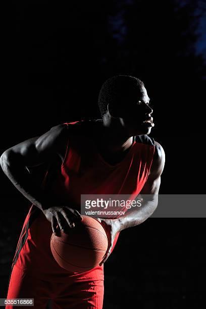Basketball Spieler bereit zu schießen