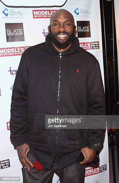 Basketball Player Reggie Evans attends Modell's Super Bowl Kickoff Party Touch By Alyssa Milano Fashion Show at Slate on January 30 2014 in New York...