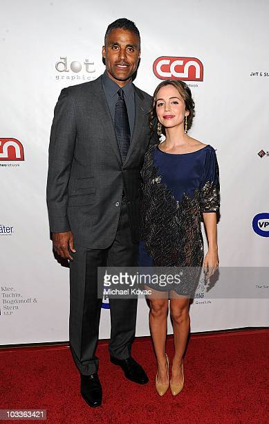 Basketball player Rick Fox and actress Eliza Dushku arrive at the 10th Annual Harold Pump Foundation Gala at the Hyatt Regency Century Plaza on...