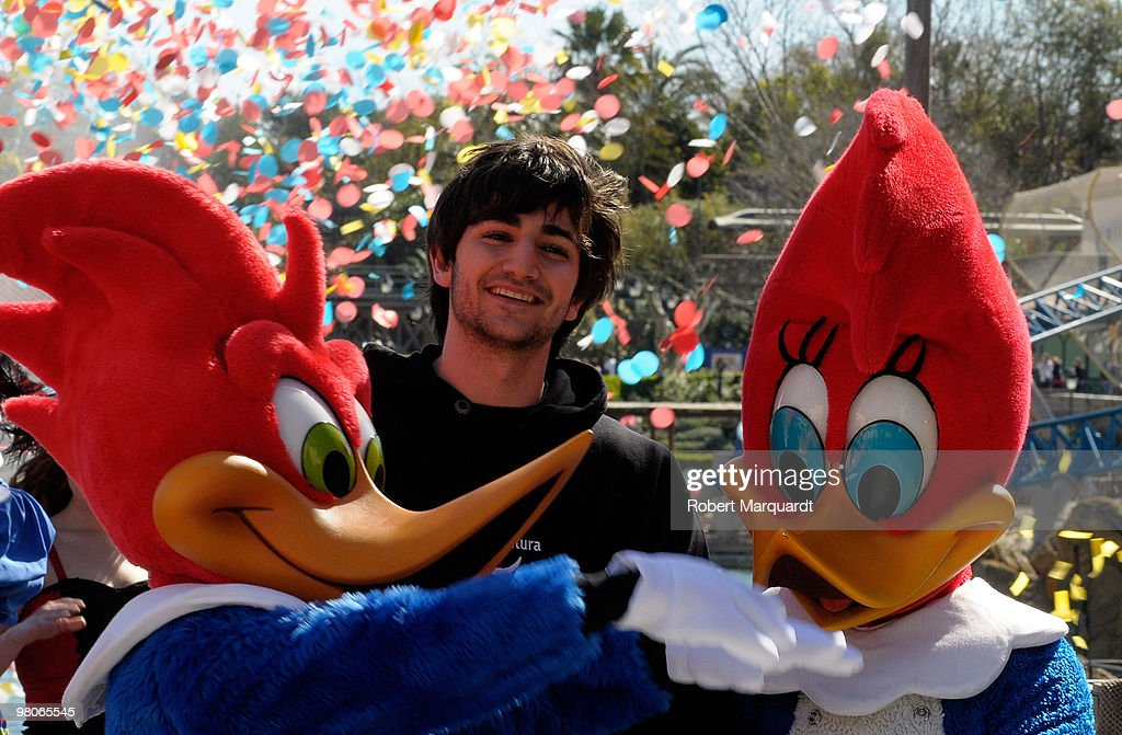 Basketball player Ricky Rubio attends the inaugration of the 2010 season at park 'Portaventura' which has the rollercoaster 'Furius Baco' The 'Furius...