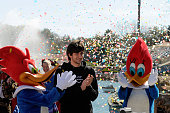 Basketball player Ricky Rubio attends the inaugration of the 2010 season at PortAventura theme park on March 26 2010 in Tarragona Spain