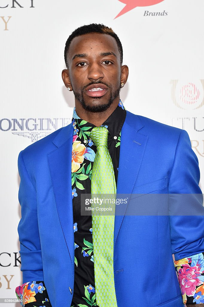 Basketball player <a gi-track='captionPersonalityLinkClicked' href=/galleries/search?phrase=Russ+Smith+-+Basketballer&family=editorial&specificpeople=10584261 ng-click='$event.stopPropagation()'>Russ Smith</a> attends the 142nd Kentucky Derby at Churchill Downs on May 07, 2016 in Louisville, Kentucky.