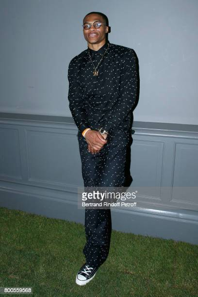 BasketBall player Russell Westbrook attends the Dior Homme Menswear Spring/Summer 2018 show as part of Paris Fashion Week on June 24 2017 in Paris...