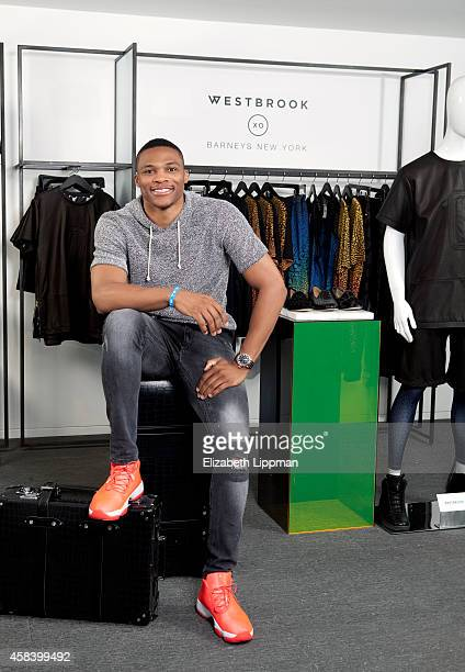 Basketball player Russell Westbrook is photographed for Wall Street Journal on September 11 2014 in New York City