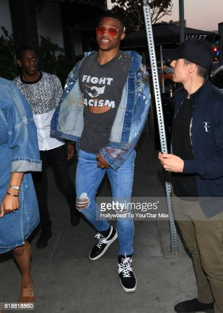 NBA basketball player Russell Westbrook is seen on July 18 2017 in Los Angeles California
