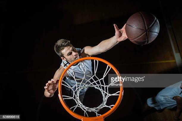 Basketball Player-Punkten mit Lay U