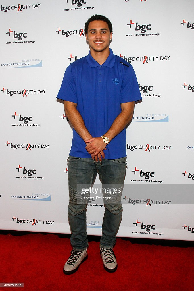 Basketball player Shane Larkin attends Annual Charity Day Hosted By Cantor Fitzgerald And BGC at BGC Partners INC on September 11 2014 in New York...