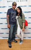 Basketball player Shannon Brown and his wife singer Monica visit SiriusXM Studio on August 8 2012 in New York City