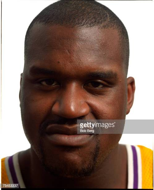 NBA basketball player Shaquille O'Neal of the Los Angeles Lakers poses for an October 1999 portrait in Los Angeles California