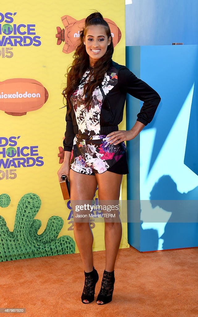 Basketball player <a gi-track='captionPersonalityLinkClicked' href=/galleries/search?phrase=Skylar+Diggins&family=editorial&specificpeople=5791961 ng-click='$event.stopPropagation()'>Skylar Diggins</a> attends Nickelodeon's 28th Annual Kids' Choice Awards held at The Forum on March 28, 2015 in Inglewood, California.